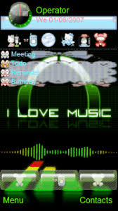 love themes for nokia 5233 animated themes symbian mobile animated theme i love music
