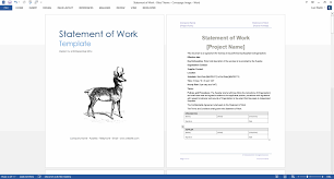 the generic statement of work sow template can help you make a