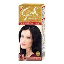 hair color for 45 buy samsol hair dye 45 black 50ml online at best price in