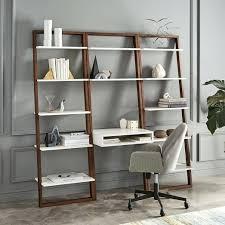 bookcase pottery barn metal ladder shelf ladder shelf desk wide