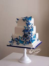 blue butterfly wedding cake like cinderella u0027s shoes and dress