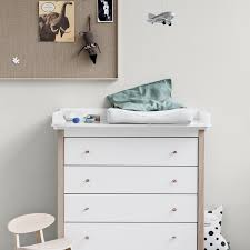 white nursery changing table white wood and oak nursery changing station by oliver furniture nubie