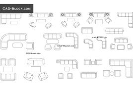 Living Room Clipart Black And White Living Room Furniture Cad Blocks Free