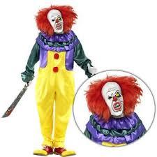 clown jumpsuit mens evil killer scary clown jumpsuit with mask