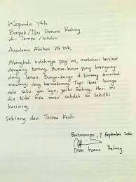 surat izin tidak masuk sekolah balasan guru ini penuh kata puitis