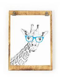Giraffe Nursery Decor Giraffe Print Giraffe Safari Nursery Giraffe Nursery