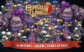 clash of clans wallpapers best clash of clans 16 witches golem 3 stars attack youtube
