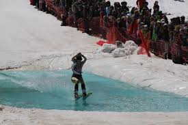 closing weekend and pond skim at mt bachelor backyardbend