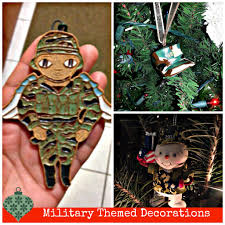 wordless wednesday military holiday decor themed christmas trees