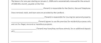 100 leasing template template lease teacher resume format 7
