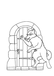 wolf open red riding hood grandma house coloring pages batch