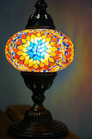 sun ufo mosaic table lamp the dancing pixie