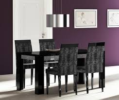 black and wood dining table black wooden dining table and chairs modern home design
