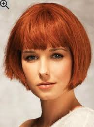 shorter hairstyles with side bangs and an angle chin length bob with an angle and layered sides straight bangs