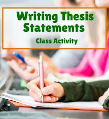 Help your students write great thesis statements with this fun class activity  From Laura Torres