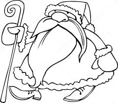 cartoon santa claus coloring book u2014 stock vector izakowski