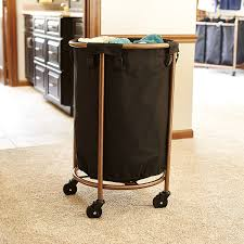 sterilite wheeled laundry hamper amazon com household essentials 6421 1 round laundry hamper with