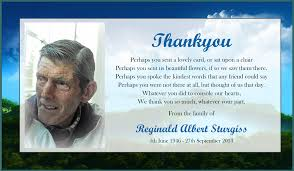 thank you card samples funeral thank you cards to order printed