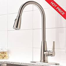 kitchen faucet brushed nickel kingo home commercial high arch stainless steel single lever