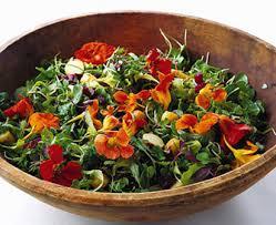 Salad With Edible Flowers - edible flowers epicurious com epicurious com