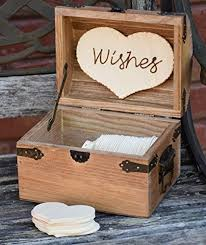 wedding wishing box personalized rustic wedding wood chest guest book