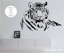 tiger wall decal tiger wall art tiger wall decor l design