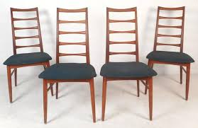 Ladder Back Dining Chairs Set Of Four Mid Century Modern Ladder Back Dining Chairs By Niels