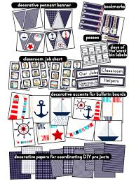 Nautical Themed Classroom Ideas & Printable Classroom