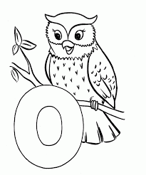 the letter o coloring pages coloring home