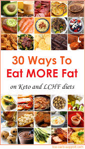 30 ways to eat more fat u2013 low carb support