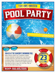pool party invitation template stock vector art 534047368 istock
