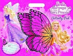 barbie mariposa u0026 fairy princess activity pad includes