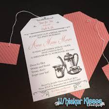 bridal shower tea party invitations bridal shower tea party invitations deposit whisker kisses designs