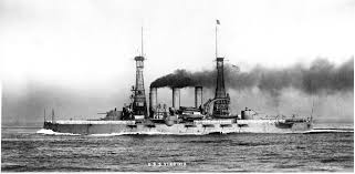 Admirals Flag Battleship Number 13 Uss Virginia Undwerway With A Full Head Of