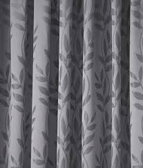 Curtain Pairs Tivoli Leaf Design Lined Top Curtains Ready Made Pencil Pleat