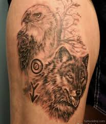 amazing wolf and eagle designs pictures