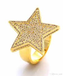 gold rings star images 2018 2017 yellow gold color mens jewelry wedding engagement hip jpg