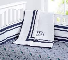 summer whale baby bedding set pottery barn kids