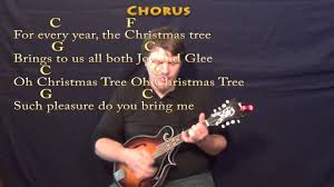 o christmas tree mandolin cover lesson in c with lyrics chords