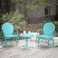 Turquoise Patio Chairs Outdoor 3 Retro Turquoise Blue Patio Furniture Glider Chair