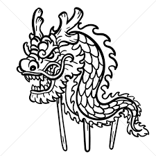 dragon dance with wooden poles vector image 1972690 stockunlimited