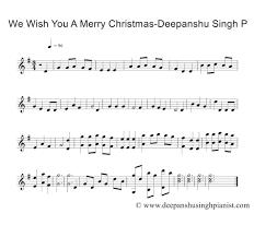merry christmas staff piano music sheet bollywood
