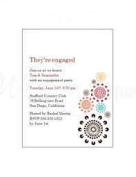 printable multicolor bursts engagement party invitations template