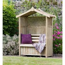 zest 4 leisure dorset arbour seat and storage box wooden at wilko com