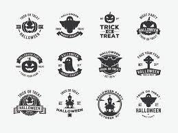 halloween vector badges