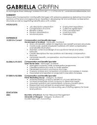 Resume Samples Human Resources by Compensation And Benefits Resume Examples Human Resources Resume
