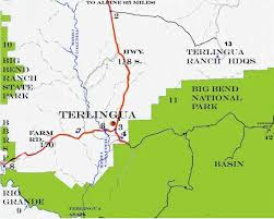 where is terlingua on a map map terlingua city limits