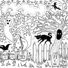 Halloween Drawing Spooky Drawings For Halloween U2013 Festival Collections