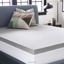 King Size Memory Foam Mattress Topper Lucid 3 In King Bamboo Charcoal Memory Foam Mattress Topper