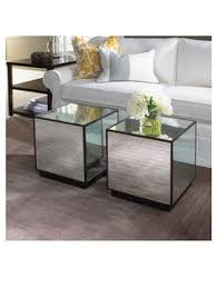 cube mirror side table hydrangeas for weddings hydrangea in a mirror glass cube more